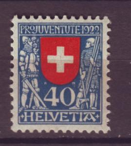 J15402 JLstamps 1922 switzerland hv of set mh #b24 design
