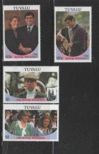 TUVALU #381-382 a-b 1986 WEDDING OF PRINCE ANDREW MINT VF NH O.G