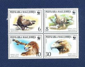 MACEDONIA - Scott 206 - FVF MNH - BIRDS WWF - 2001