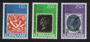 Suriname 150th Anniversary of the Penny Black 3v SG#1443-1445