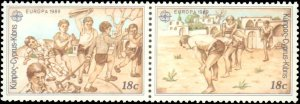 Cyprus #723a, 725a, Complete Set(4), Pairs, 1989, Europa, Never Hinged