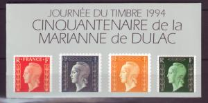 Z459  jlstamps 1994 france mnh bklt #2409a stamp day