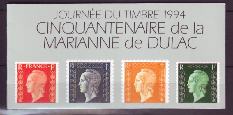 Z459  jlstamps 1994 france mnh bklt #2409a stamp day
