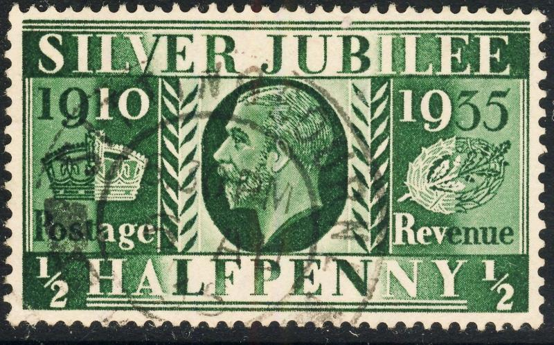GB 1935  SITTINGBOURNE / KENT  ds on KGV Jubilee SG453 1/2d green