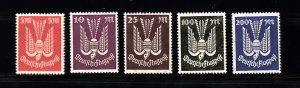 GERMANY SC# C15-C19  MNH