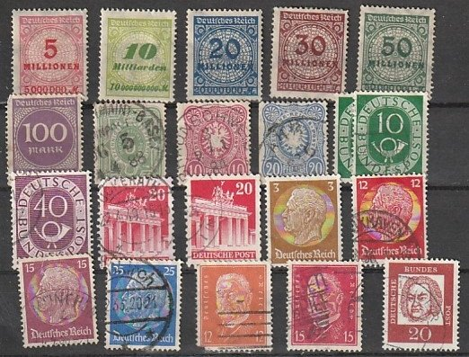 Germany Used lot of 21 #190818-10