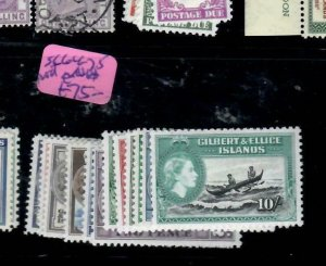 GILBERT & ELLICE ISLANDS (P0708B) QEII  SET  SG 66-75+SHADES   MOG
