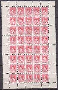 PAPUA, 1937 Coronation, 2d. Scarlet, sheet of 40, mnh.
