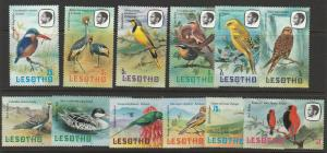LESOTHO SET OF 11 AFRICAN BIRDS