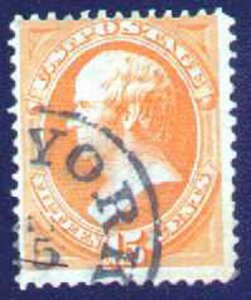 MALACK 163 Fine, great color,  town cancel,  Very Fresh! t2253
