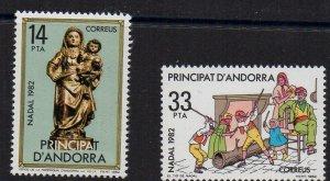 ANDORRA - SPANISH ANDORRA - 1982 - CHRISTMAS -
