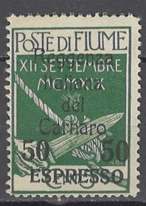 COLLECTION LOT OF #1131  FIUME # E5 MH 1920 CV=$290