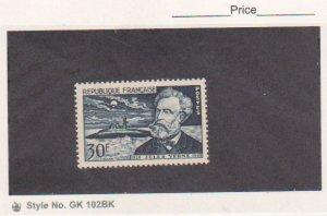 FRANCE STAMP SCOTT # 769, 770 MNH FRESH 1955  JULES VERNE