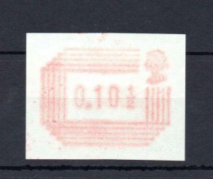 101/2p FRAMA PRINTED ON THE GUMMED SIDE UNMOUNTED MINT