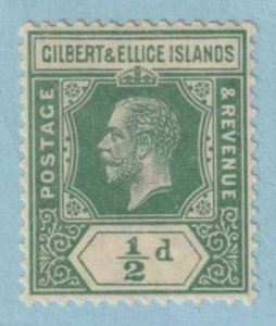 GILBERT & ELLICE ISLANDS 14a YELLOW GREEN MINT HINGED OG * NO FAULTS EXTRA FINE!