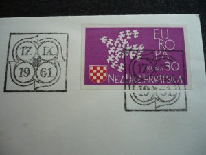 Europa 1961 - Croatian Cinderella First Day Cover