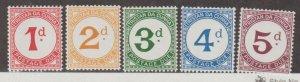Tristan da Cunha Scott #J1-J5 Stamps - Mint NH Set
