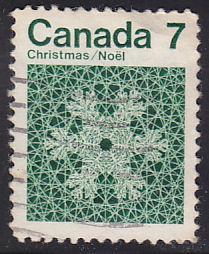 Canada 555 Hinged Used 1971 Snowflakes