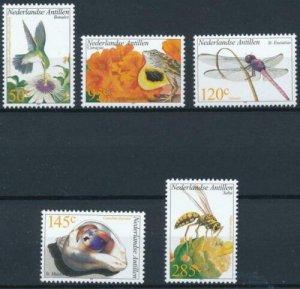 Netherlands Antilles 2002 #978-82 MNH. Flora and fauna
