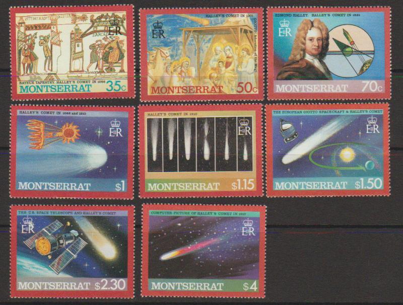 Montserrat SG 682 - 688 set of 4  MVLH -Halleys Comet