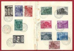 1950 Vatican/Vatican City, N° 122/131 + Ex. Su Book Del Pilgrim Year Santo