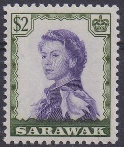 SARAWAK 1955 QEII $2 MNH **