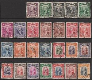SARAWAK 1934 Brooke set 1c-$10. SG 106-25 cat £350.
