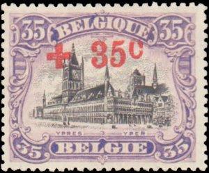 Belgium #B41, Incomplete Set, 1918, Hinged