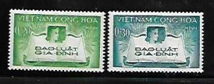 VIETNAM, 128-129, MINT HINGED, FAMILY & JUSTICE