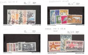 Lot of 164 Czechoslovakia Used Stamps Scott Range # 1060 - 1360 #139115 R