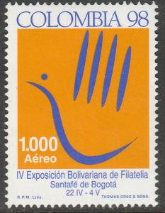 COLOMBIA C903, PHILATELIC EXPOSITION. MINT, NH. F-VF. (549)
