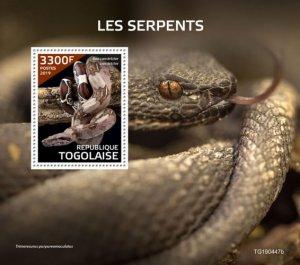 TOGO - 2019 - Snakes - Perf Souv Sheet  - M N H