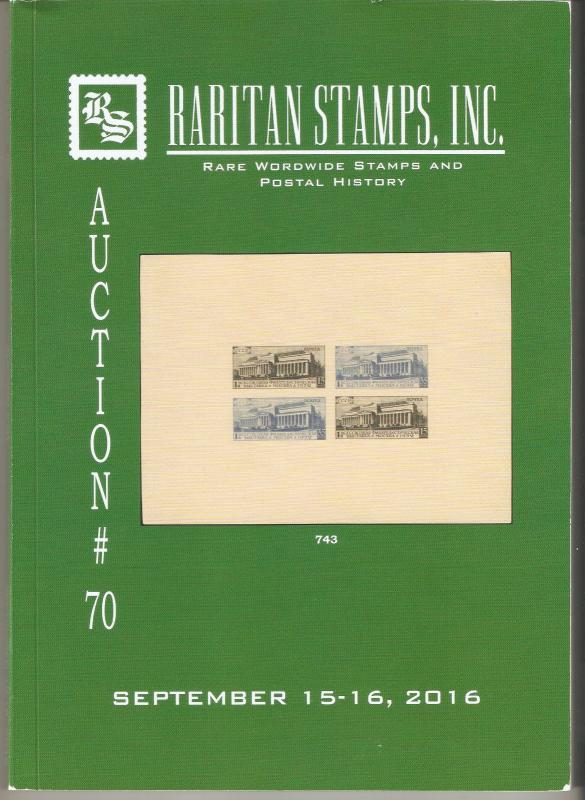Raritan Catalog Auction #70,Sep 2016 Rare Russia, Errors & Worldwide Rarities
