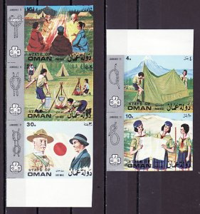 Oman State, 1971 Local issue. Girl Scouts, IMPERF set of 5. ^
