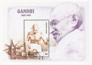 Dominica - 1998 Mahatma Gandhi - Stamp Souvenir Sheet - Scott #2095