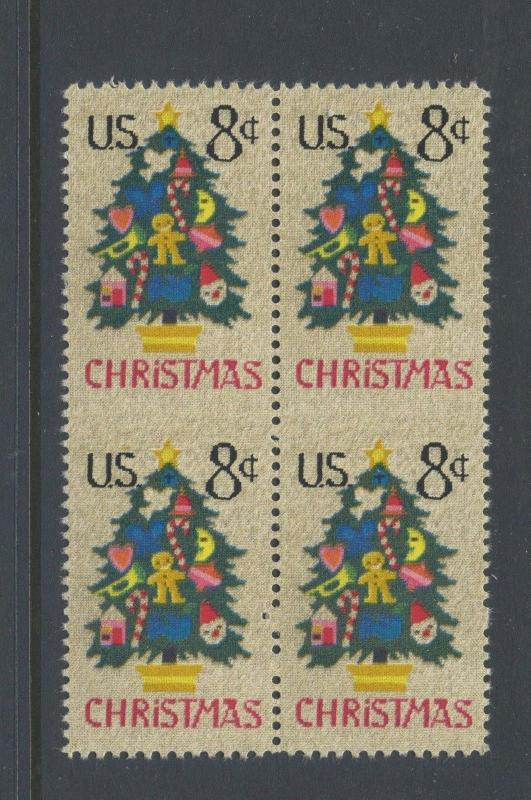 1508a Christmas Vertical Pair Imperf Between ERROR Mint Block of Stamps NH By298