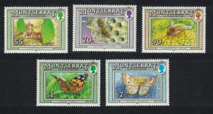 Montserrat Ants Paper wasp Bee fly Butterflies 5v 1992 MNH SG#895=903