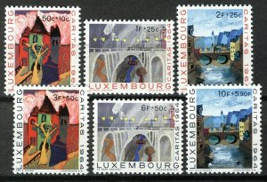 Luxembourg 1964 MNH Stamps Scott B240-245 Childrens Drawings