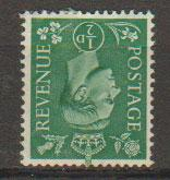 GB George VI  SG 485wi mounted mint with paper remnant
