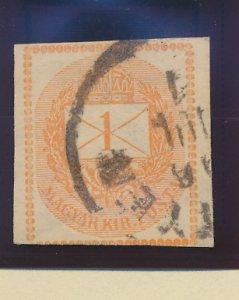 Hungary Stamp Scott #P3, Used
