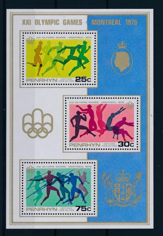 [56727] Penrhyn Cook Islands 1976 Olympic games Montreal Athletics MNH Sheet