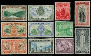 New Zealand Scott 247-257 Mint never hinged.
