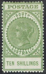 SOUTH AUSTRALIA 1904 QV THICK POSTAGE 10/-