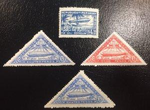 #C74, C75, C79 Graf Zeppelins MLH 1932 Paraguay