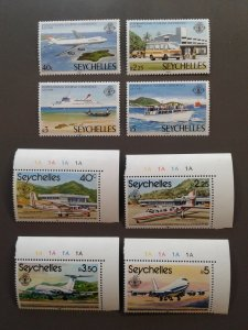 Seychelles 456-459,475-478 VF MNH Two sets. Scott $ 4.95
