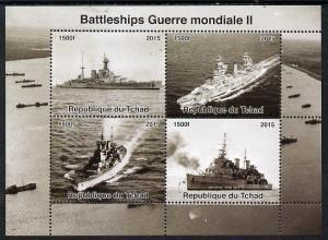 Chad MNH S/S Battleships Of World War II 2015