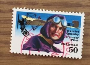 US C128 Used F/VF - Hariet Quimby Pioneer Pilot Airmail
