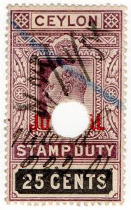 (I.B) Ceylon Revenue : Judicial 25c