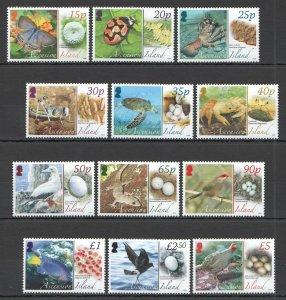 NW381 2008 ASCENSION ISLAND MARINE LIFE BIRDS FAUNA #1021-32 MICHEL 50 EURO MNH