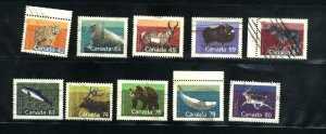 Can #1170-72,1174-80   used VF  PD